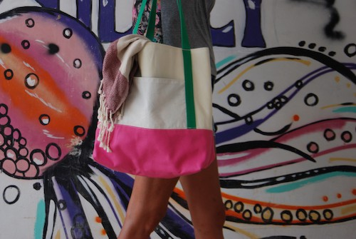 Totebag pink canvas